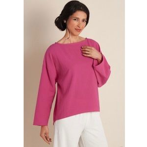 Soft Surroundings Gauze Pink Long Sleeve Tunic Top